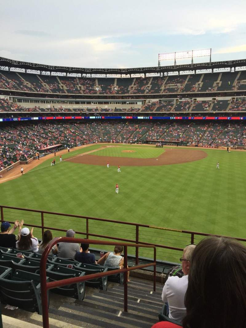 Seating view for Globe Life Park in Arlington Section 250 Row 7 Seat 1