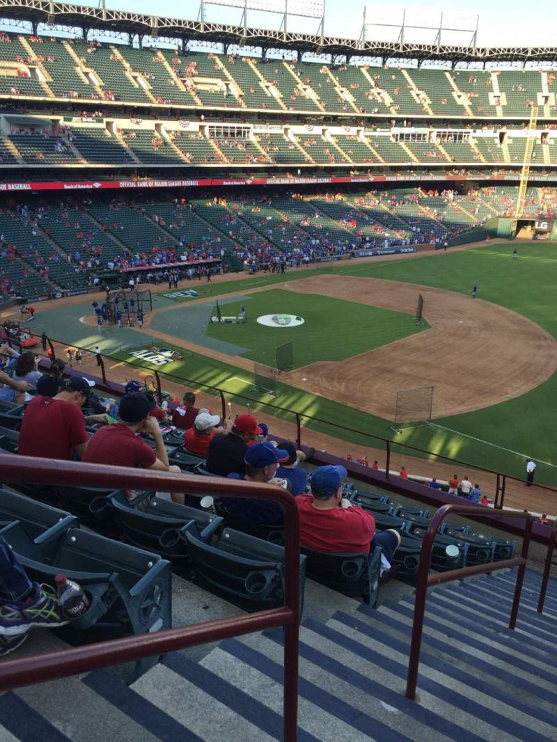 Seating view for Globe Life Park in Arlington Section 237 Row 9 Seat 1