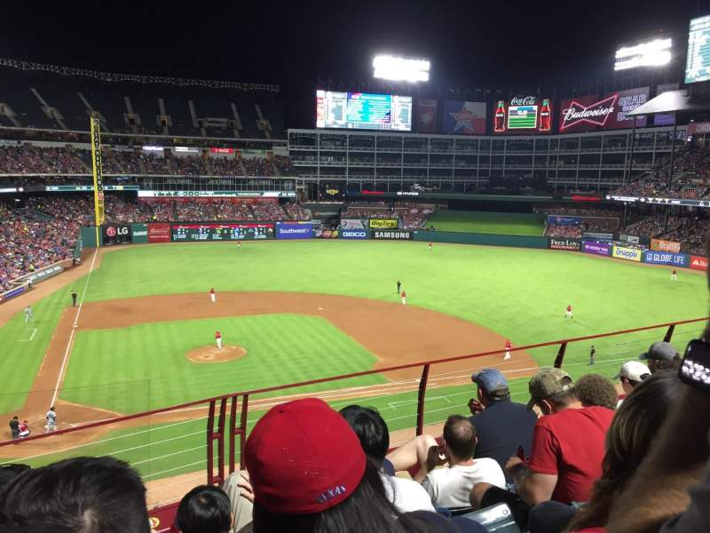 Seating view for Globe Life Park in Arlington Section 231 Row 4 Seat 5