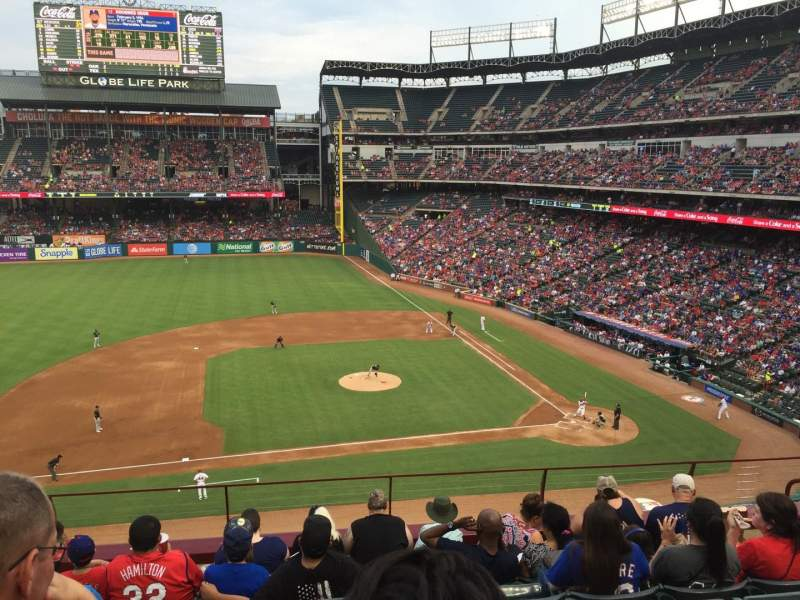 Seating view for Globe Life Park in Arlington Section 219 Row 7 Seat 10