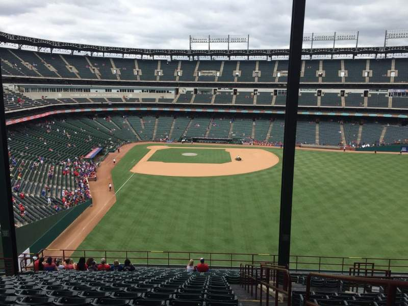 Seating view for Globe Life Park in Arlington Section 247 Row 23 Seat 16