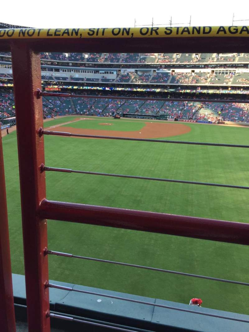 Seating view for Globe Life Park in Arlington Section 249 Row 1 Seat 9