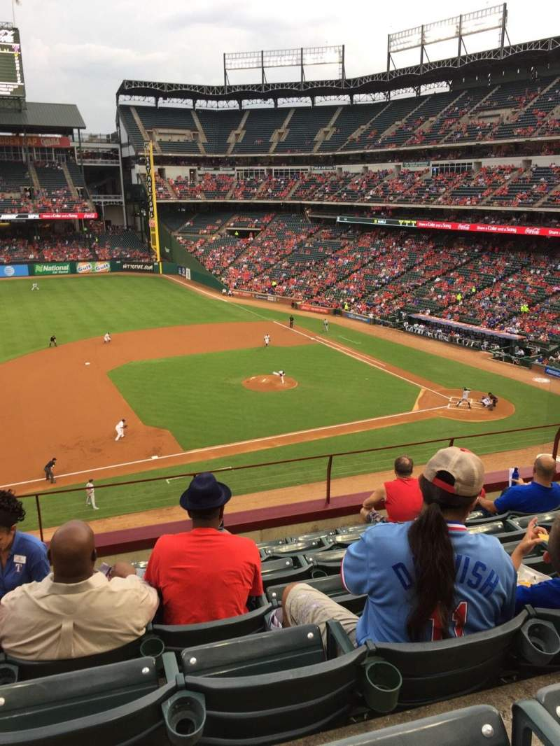Seating view for Globe Life Park in Arlington Section 218 Row 7 Seat 5
