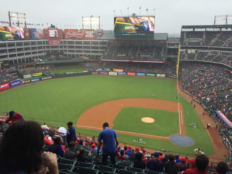 Seating view for Globe Life Park in Arlington Section 321 Row 18 Seat 13