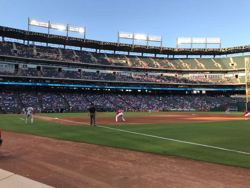 Seating view for Globe Life Park in Arlington Section 37 Row 1 Seat 16