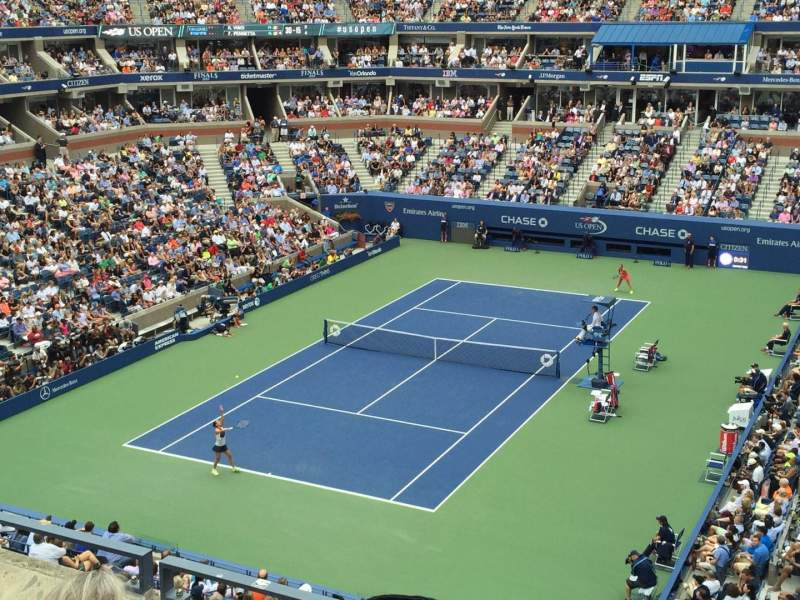 Seating view for Arthur Ashe Stadium Section 121 Row C Seat 11