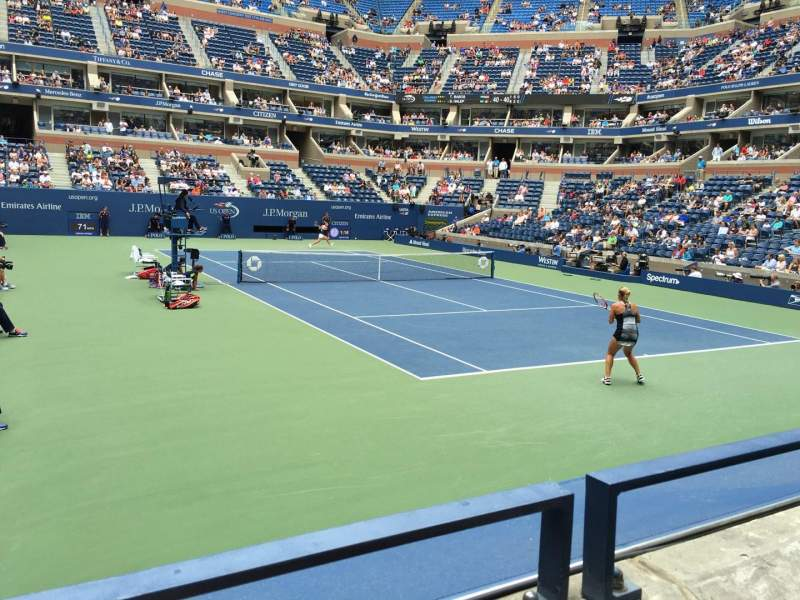 Seating view for Arthur Ashe Stadium Section 65 Row E Seat 4