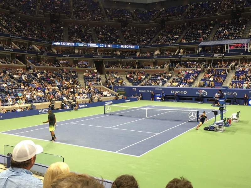 Seating view for Arthur Ashe Stadium Section 40 Row F Seat 4