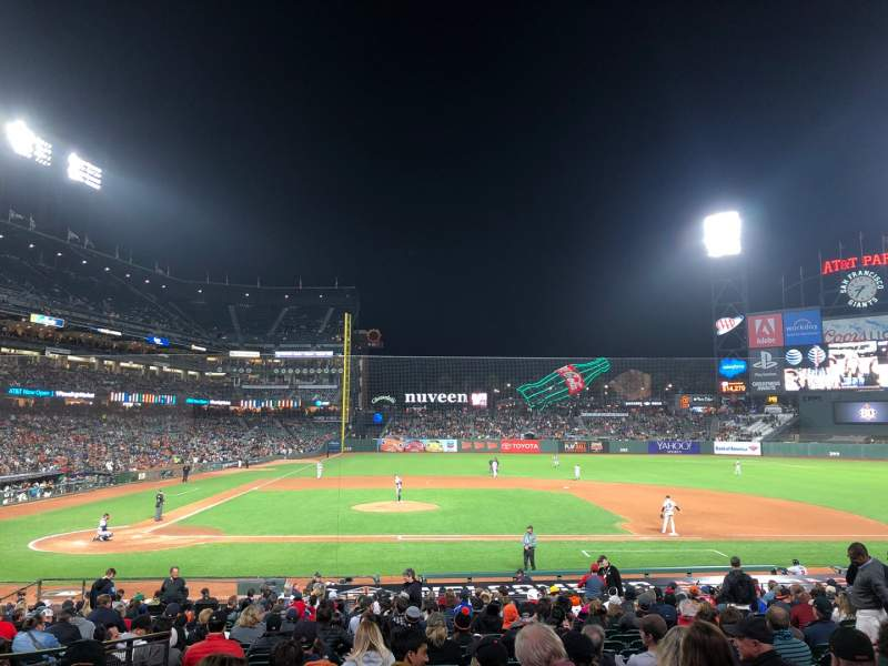 Seating view for Oracle Park Section 109 Row 26 Seat 8