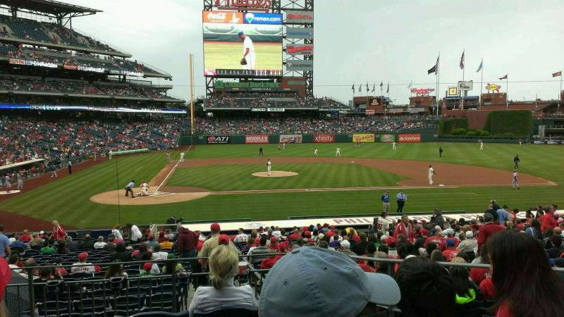 Seating view for Citizens Bank Park Section 119 Row 25 Seat 5