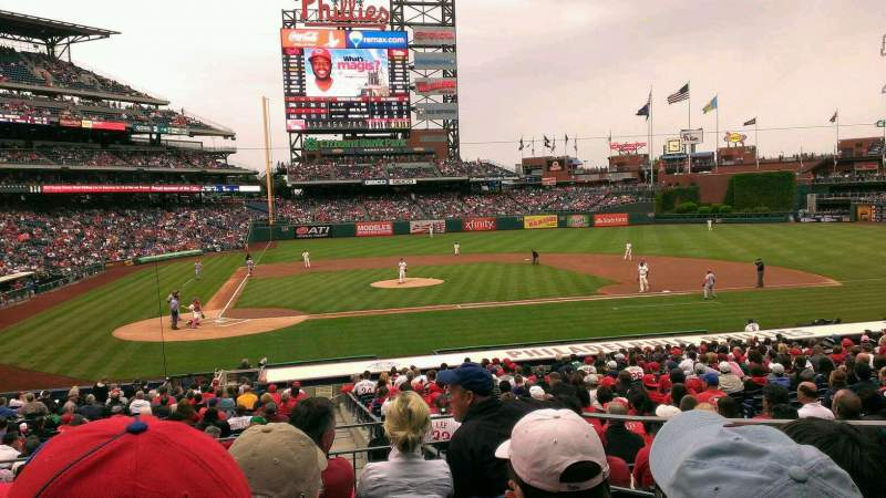Seating view for Citizens Bank Park Section 119 Row 25 Seat 6