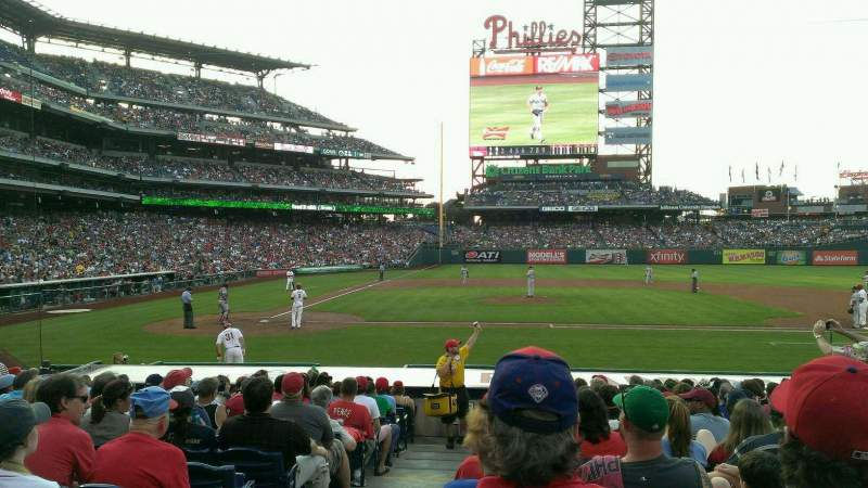 Seating view for Citizens Bank Park Section 117 Row 15 Seat 18