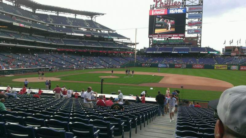 Seating view for Citizens Bank Park Section 115 Row 25 Seat 18