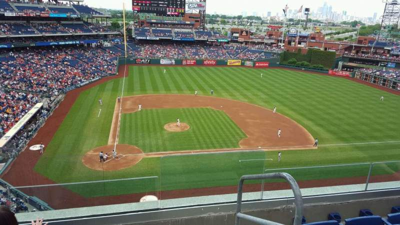 Seating view for Citizens Bank Park Section 316 Row 4 Seat 1
