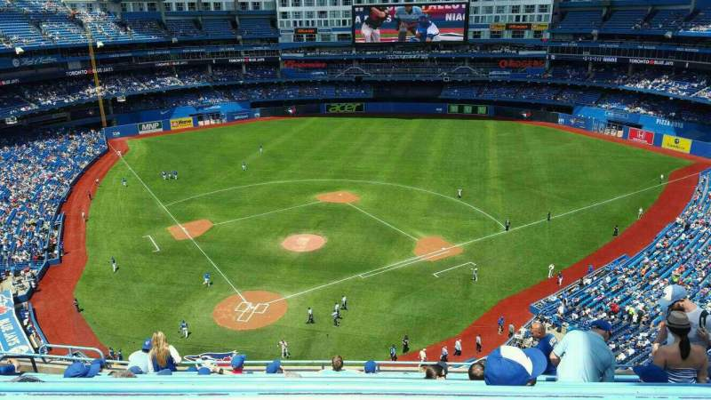 Seating view for Rogers Centre Section 523 Row 10 Seat 11