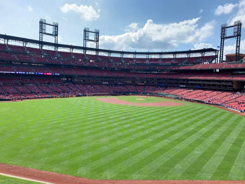 Seating view for Busch Stadium Section MVP1 Row A Seat 3
