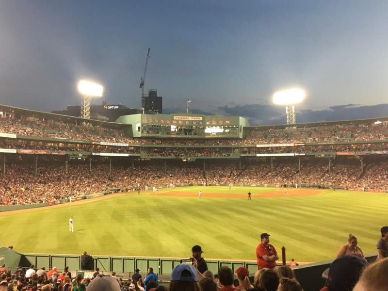 Seating view for Fenway Park Section Bleacher 38 Row 10 Seat 15