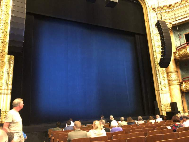 Seating view for Emerson Colonial Theatre Section Orchestra L Row L Seat 1
