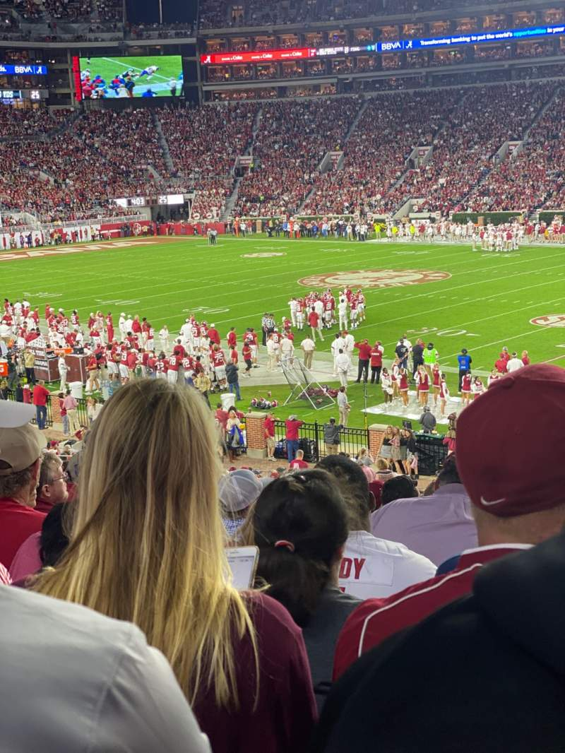Seating view for Bryant-Denny Stadium Section C Row 37 Seat 7