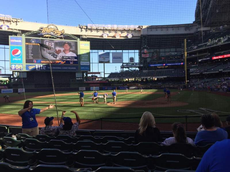Seating view for Miller Park Section 119 Row 7 Seat 8