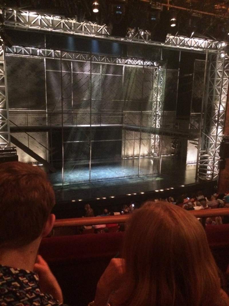 Seating view for August Wilson Theatre Section MezzL Row B Seat 7