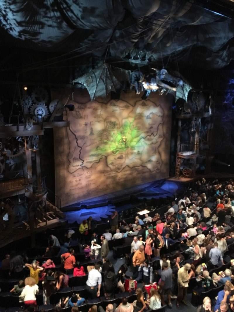 Gershwin Theatre, section: Front Mezzanine L, row: Dd, seat: 1