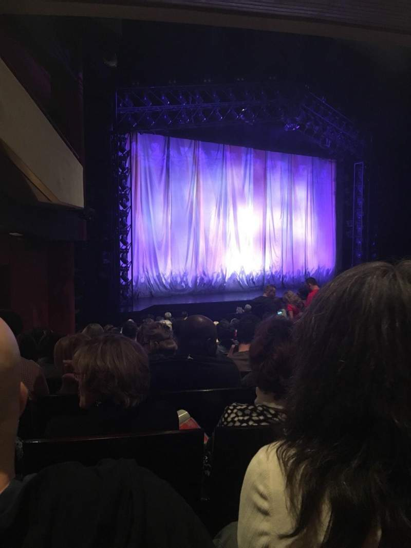Seating view for Marquis Theatre Section Orchestra Left Row S Seat 17