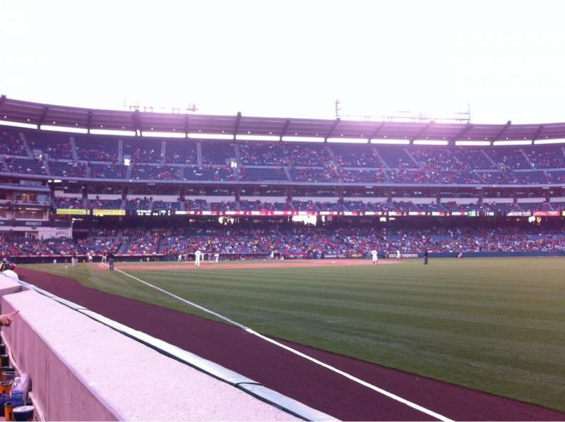 Seating view for Angel Stadium Section F131 Row A Seat 15
