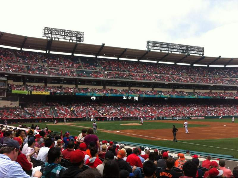 Seating view for Angel Stadium Section F128 Row L Seat 7