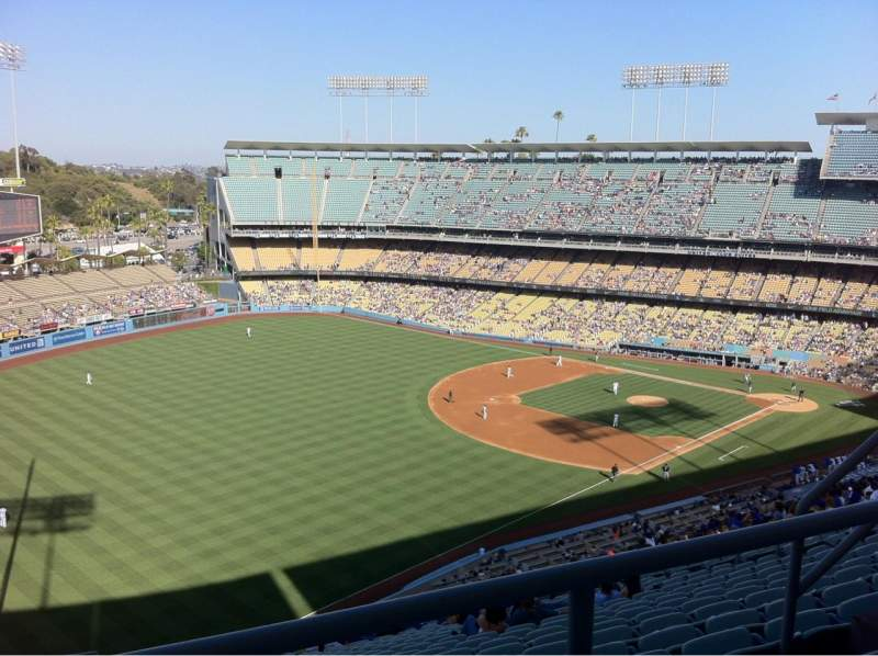 Seating view for Dodger Stadium Section 45rs Row Bb Seat 7