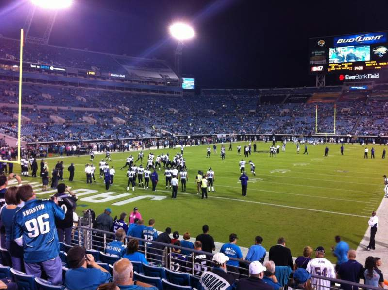 Seating view for Everbank Field Section 146 Row M Seat 4