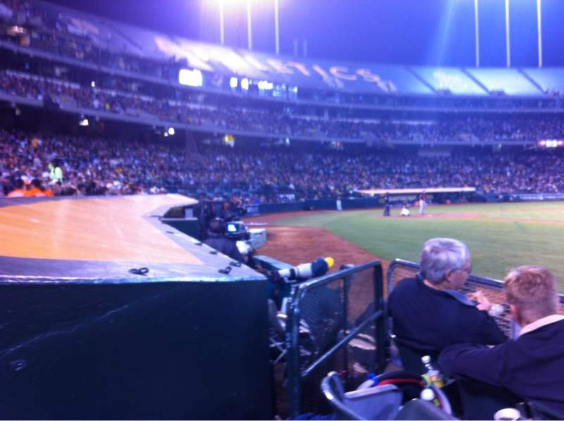 Seating view for Oakland Alameda Coliseum Section 111 Row 3 Seat 14