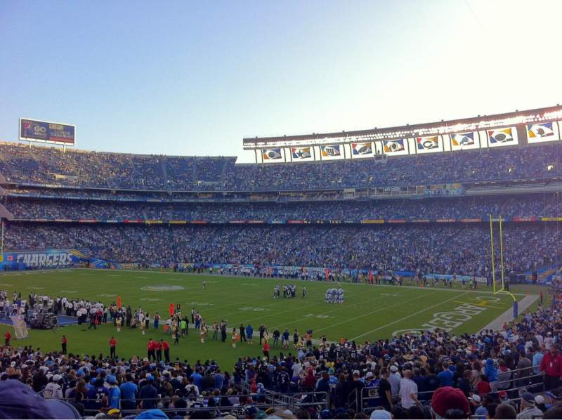 Seating view for Qualcomm Stadium Section P13 Row 16 Seat 6