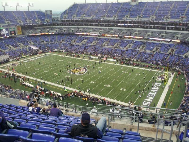 Seating view for M&T Bank Stadium Section 549 Row 15 Seat 1