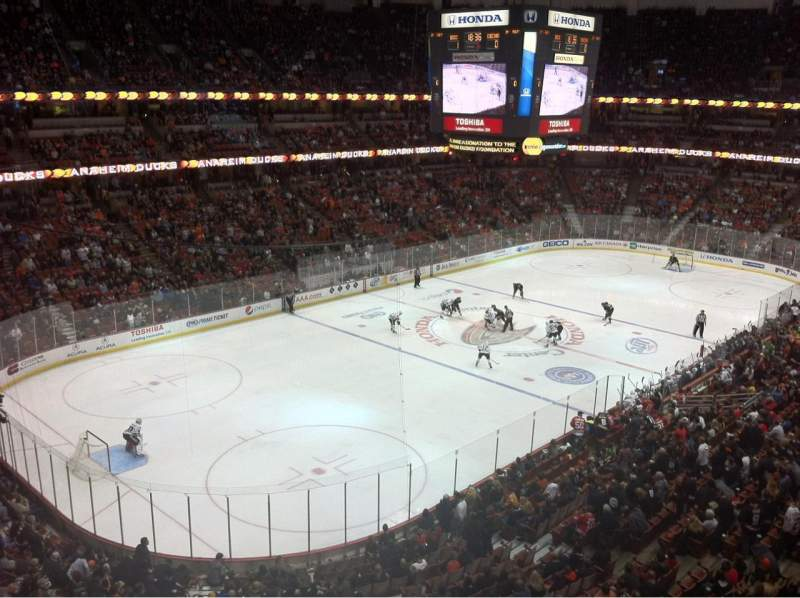 Seating view for Honda Center Section 417 Row A Seat 10