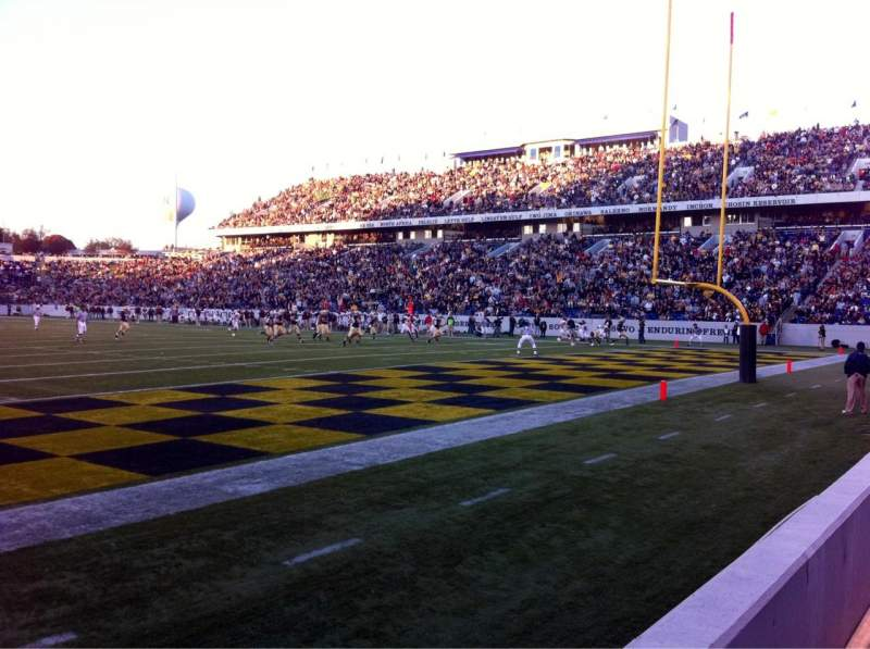 Seating view for Navy-Marine Corps Memorial Stadium Section H Row 1