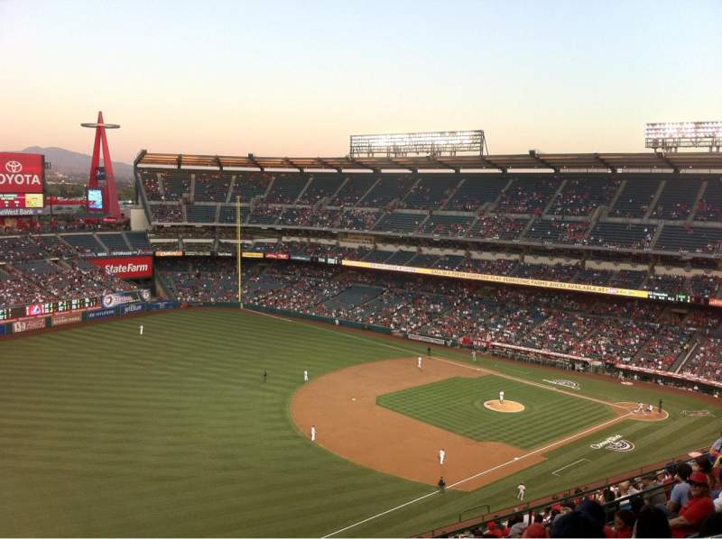 Seating view for Angel Stadium Section V508 Row G Seat 24