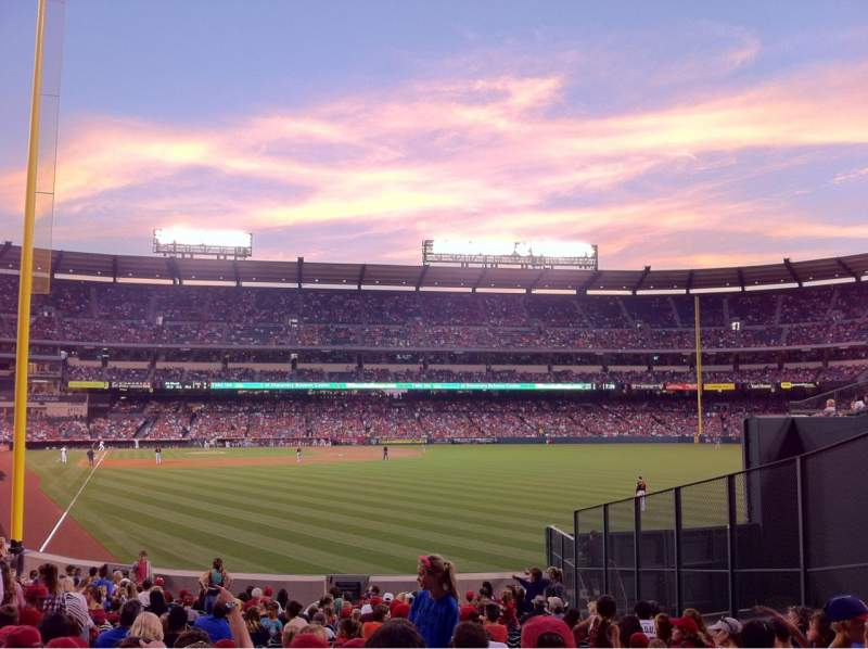 Seating view for Angel Stadium Section 135 Row W Seat 11