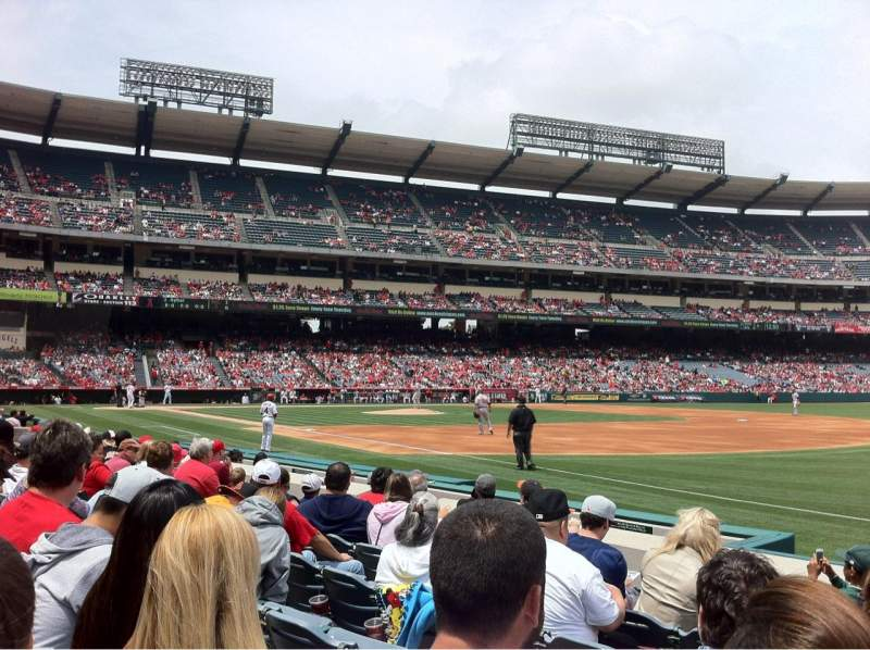 Seating view for Angel Stadium Section F128 Row F Seat 13