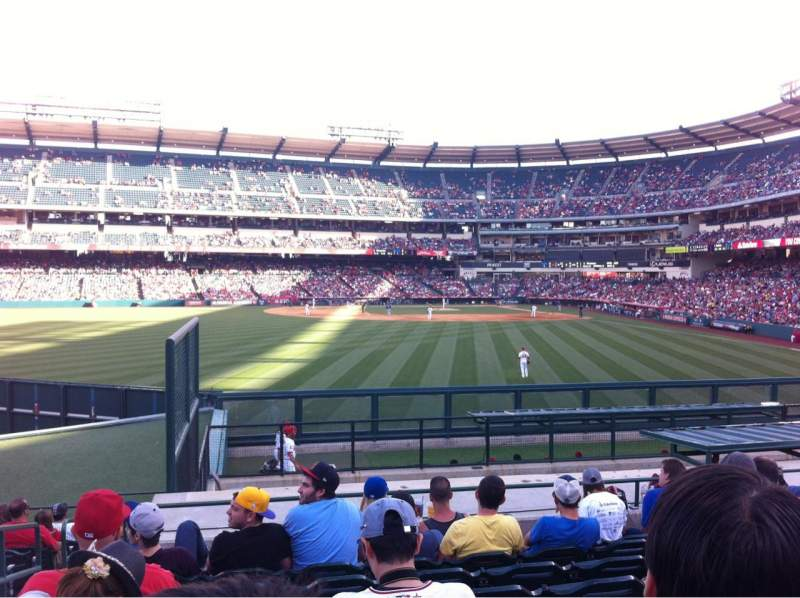 Seating view for Angel Stadium Section 258 Row P Seat 2