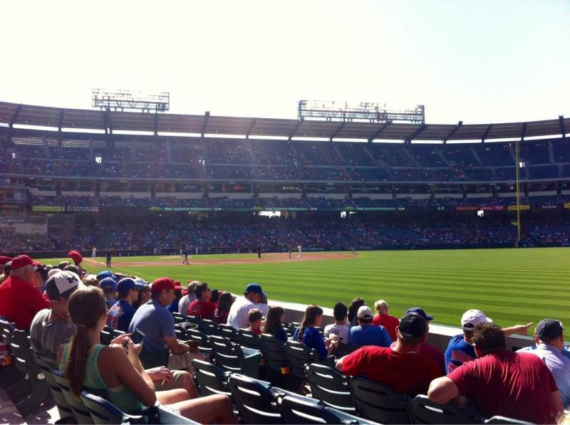 Seating view for Angel Stadium Section F132 Row G Seat 8