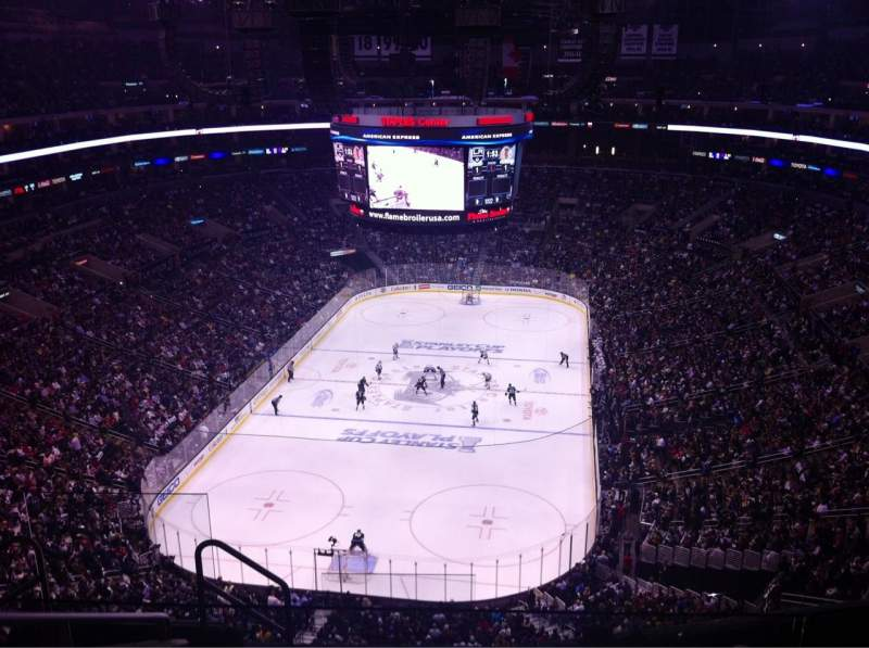Seating view for Staples Center Section 308 Row 7 Seat 23