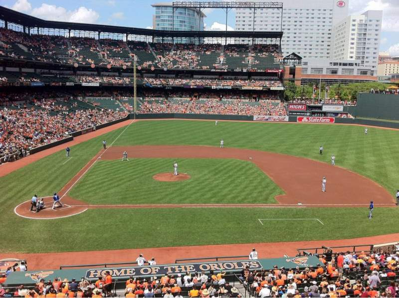 Seating view for Oriole Park at Camden Yards Section 226 Row 1 Seat 2