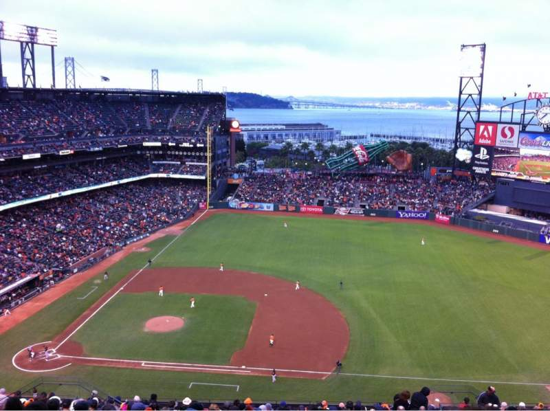 Seating view for AT&T Park Section 307 Row 18 Seat 12