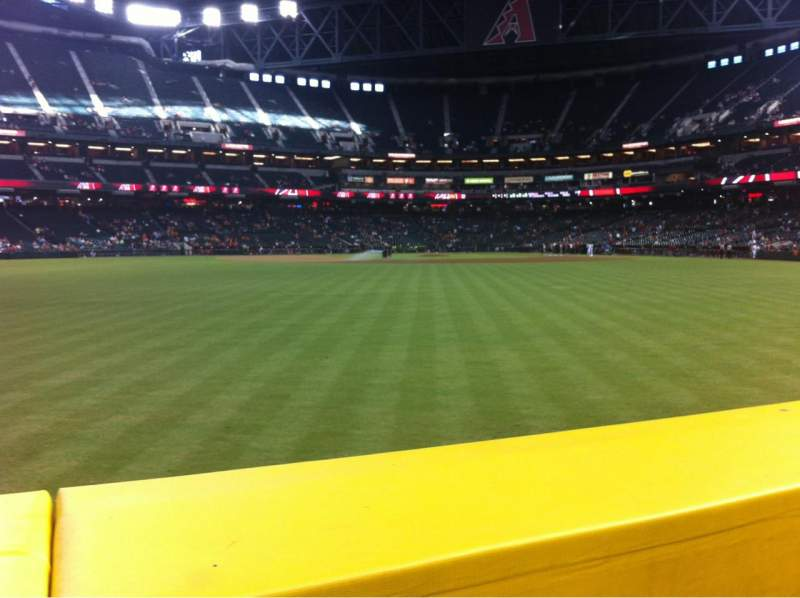 Seating view for Chase Field Section 144 Row 11 Seat 9