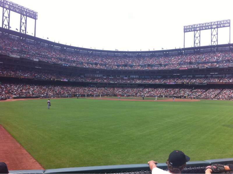 Seating view for AT&T Park Section 144 Row 2 Seat 22
