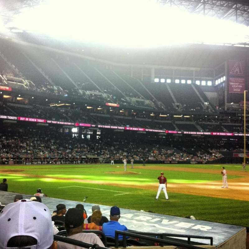 Seating view for Chase Field Section 114 Row 13 Seat 13
