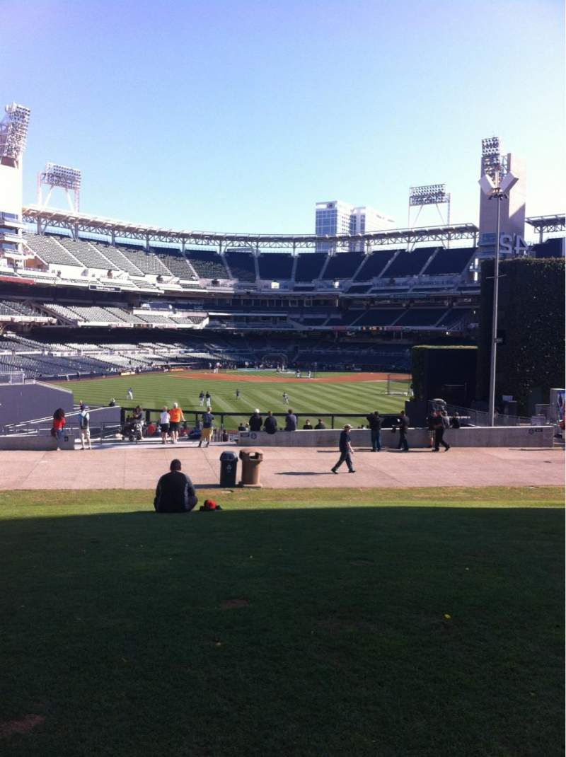 Seating view for Petco Park Section Park At The Park