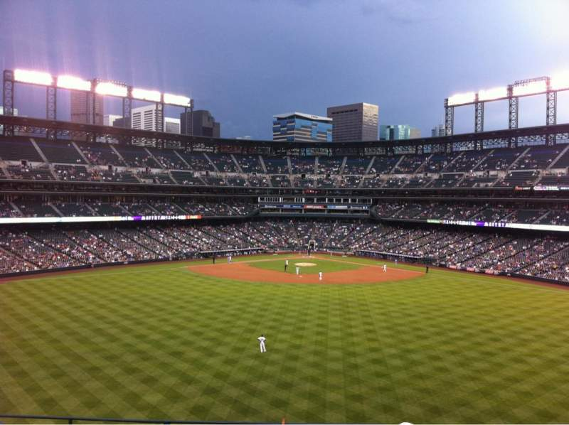 Seating view for Coors Field Section 402 Row 5 Seat 40