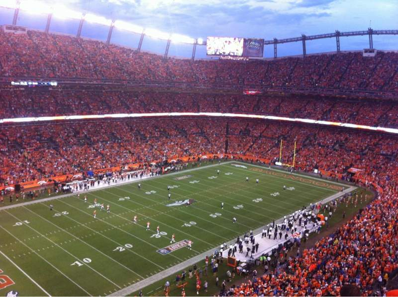 Seating view for Sports Authority Field at Mile High Section 540 Row 4 Seat 10